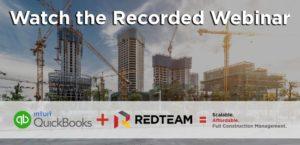 Webinar – RedTeam and Quickbooks Online