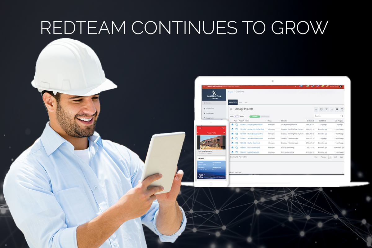 RedTeam Continues to Strengthen its Position as the Top Choice for Small and Mid Size Commercial Construction Contractors.