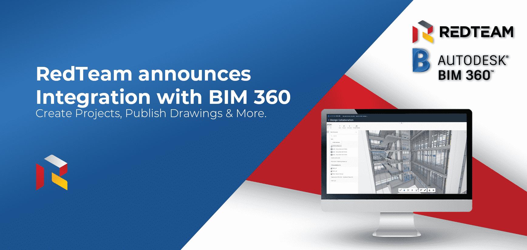 RedTeam Announces Integration with Autodesk BIM 360.